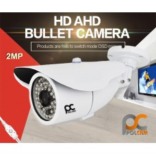 AHD KAMERA 2MP METAL KASA 48 LED 3.6MM POLCAM