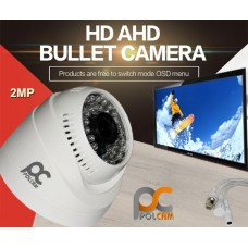 AHD KAMERA 2MP DOME 36 LED 3.6MM POLCAM