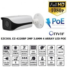 EZCOOL EZ-4220BP 2MP 3.6MM 4 ARRAY LED IP POE